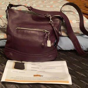 Coach Wine colored leather Crossbody